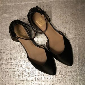DolceVita Black Leather Flats